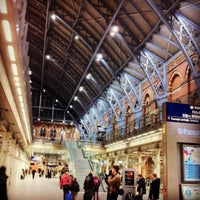 Photo taken at London St Pancras International Eurostar Terminal by Haziq A. on 12/18/2012