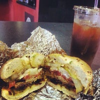 Photo taken at Chicago Bagel Authority by Oscar D. on 7/24/2013