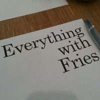 Photo taken at Everything With Fries by Adrian S. on 9/22/2012
