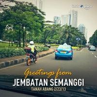Photo taken at Jembatan Semanggi by Erwin Ruly S. on 2/23/2013