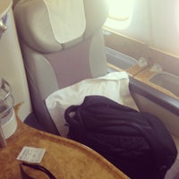 Photo taken at Emirates (Airbus A380) Business Class by Amro A. on 5/21/2013