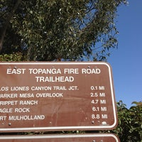 Photo taken at East Topanga Fire Road Trailhead by joni on 4/20/2013