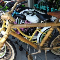 Photo taken at Holland's Bicycles by Nancy on 6/29/2013