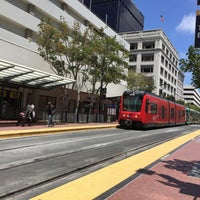 Photo taken at 5th Ave Trolley Station by Freddie D. on 7/3/2016