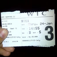 Photo taken at WTC Serpong 21 by Choirunnisa Y. on 1/24/2013