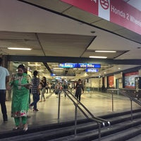 Photo taken at Vishwavidyalaya Metro Station by kokopelli on 11/8/2016