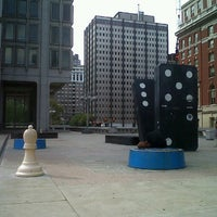 Photo taken at Thomas Paine Plaza by Grace P. on 9/16/2012