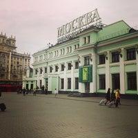 Photo taken at Belorussky Rail Terminal by Elena K. on 5/3/2013