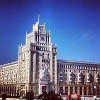 Photo taken at Triumfalnaya Square by Roman V. on 4/26/2013