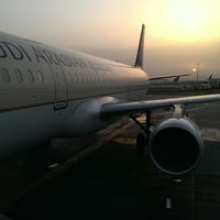 Photo taken at King Abdulaziz International Airport (JED) by Abdullah T. on 5/18/2013