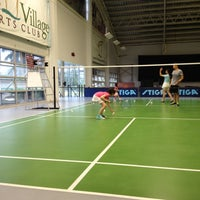 Photo taken at The Village Sports Club Badminton Court by Mira C. on 9/8/2013
