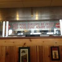 Photo taken at Brown Bag Burgers by Sarah S. on 2/9/2013