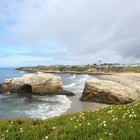 Photo taken at Natural Bridges State Beach by Athonia C. on 3/30/2013