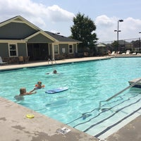 Photo taken at Hopewell Manor Pool/Club House by Chris B. on 8/9/2014