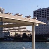 Photo taken at 隅田川明石町防災船着場 by Riotaro O. on 1/1/2014