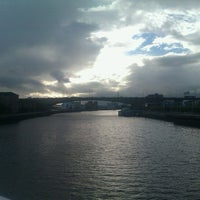 Photo taken at Tradeston-Broomielaw Bridge (Squiggly) by Camega on 9/17/2012