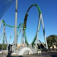 Photo taken at The Incredible Hulk Coaster by Matthew P. on 11/2/2012