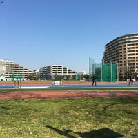 Photo taken at Nihon University Track and Field Stadium by Gen on 3/29/2016