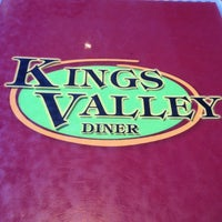 Photo taken at Kings Valley Diner by Daniela on 1/18/2013