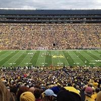 Photo taken at Michigan Stadium by Laura B. on 10/21/2012