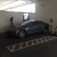 Photo taken at Tesla Supercharger by Peter A. on 4/13/2014