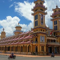 Photo taken at Cao Dai Holy See by Nick G. on 9/3/2014