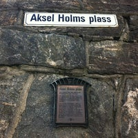 Photo taken at Aksel Holms Plass by Maria on 8/25/2013