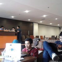 Photo taken at Lounge BINUS University by Rahma S. on 2/26/2013