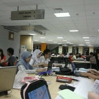 Photo taken at Library BINUS University by Rahma S. on 11/1/2012