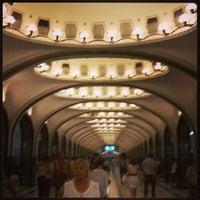 Photo taken at metro Rizhskaya by Saverio F. on 6/5/2013
