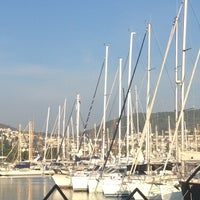 Photo taken at Marina Yacht Club by Hande on 11/24/2012