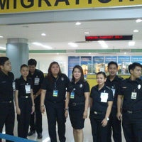 Photo taken at Phil. Immigration Counter - Clark Airport by Aldwin P. on 12/31/2012