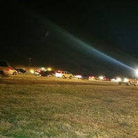Photo taken at Charlotte Motor Speedway Christmas Light Show by Troy C. on 12/14/2014