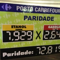 Photo taken at Posto Carrefour by Fernando A. on 12/24/2012