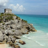 Photo taken at Tulum Archeological Site by Marissa R. on 12/26/2012