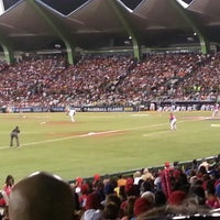Photo taken at Estadio Hiram Bithorn by Sugrim A. on 3/12/2013