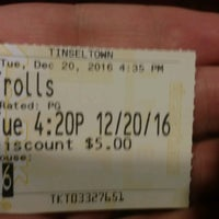 Photo taken at Tinseltown Theaters by JR T. on 12/20/2016