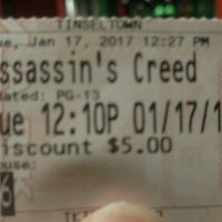 Photo taken at Tinseltown Theaters by JR T. on 1/17/2017