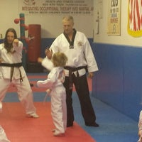Photo taken at Atomic Tae Kwon Do by Meredith A. on 4/10/2014