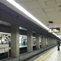 Photo taken at Sakaisuji-Hommachi Station by mayuri041 on 3/18/2014