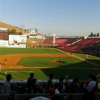 Photo taken at Estadio Gasmart by Christián B. on 7/14/2013