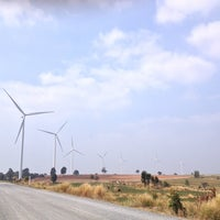 Photo taken at Wind Farm Huay Bong by Mim P. on 12/29/2013