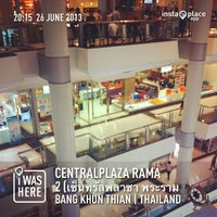 Photo taken at CentralPlaza Rama 2 by Burutrad C. on 6/26/2013