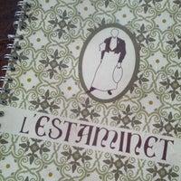 Photo taken at L'Estaminet by Joan R. on 11/9/2013