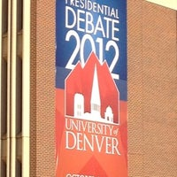 Photo taken at DU Presidential Debate by Batman on 10/5/2012