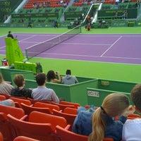 Photo taken at Khalifa International Tennis & Squash Complex by Khaled H. on 12/31/2012