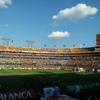Photo taken at Estadio Universitario by Brian R. on 7/13/2013