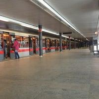 Photo taken at Metro =C= Vyšehrad by Jakub V. on 3/13/2013