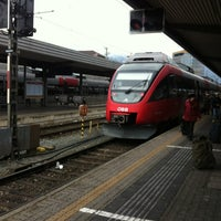 Photo taken at Innsbruck Hauptbahnhof by Harsh S. on 12/21/2012