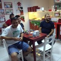 Photo taken at Meşhur Adıyaman Çiğ Köftecisi Side by Pınar Ş. on 9/4/2014